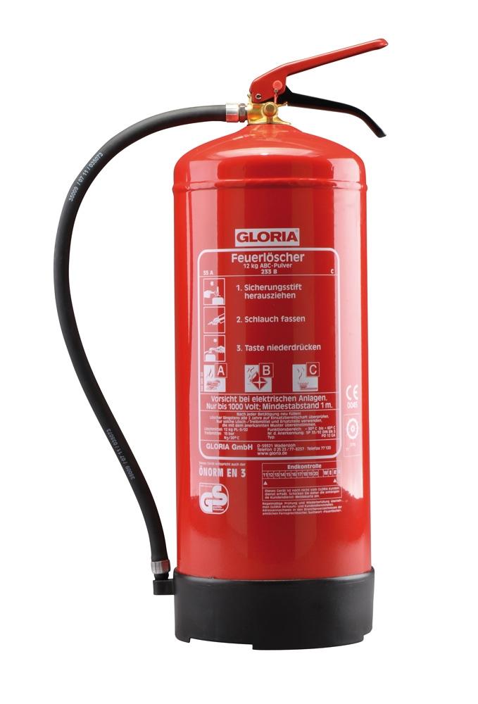 Feuerlöscher Gloria 12 KG ABC Pulver 55A//233B//C